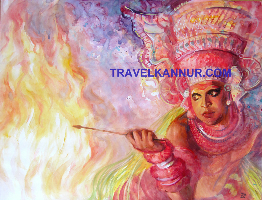 Theyyam Paintings of Madina Ziganshina